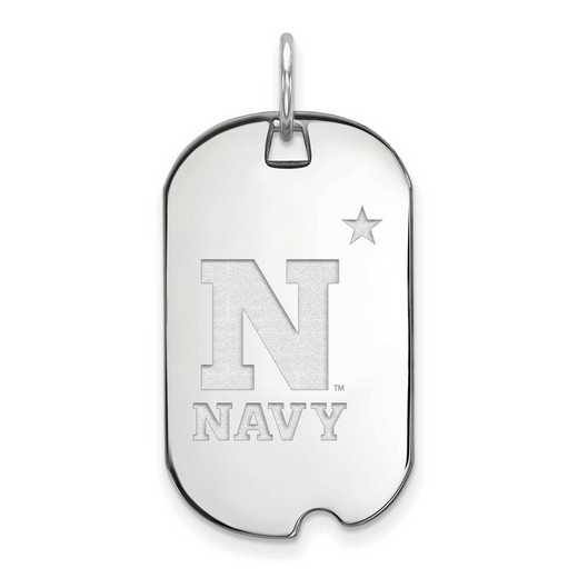 SS007USN: SS LogoArt Navy Small Dog Tag