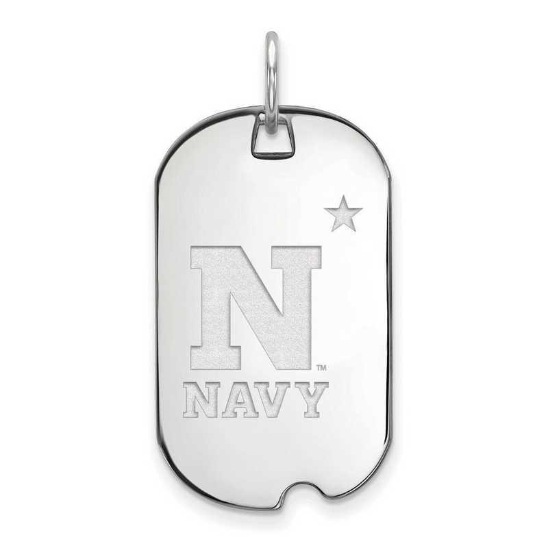 SS007USN: SS LogoArt Navy Small Dog Tag