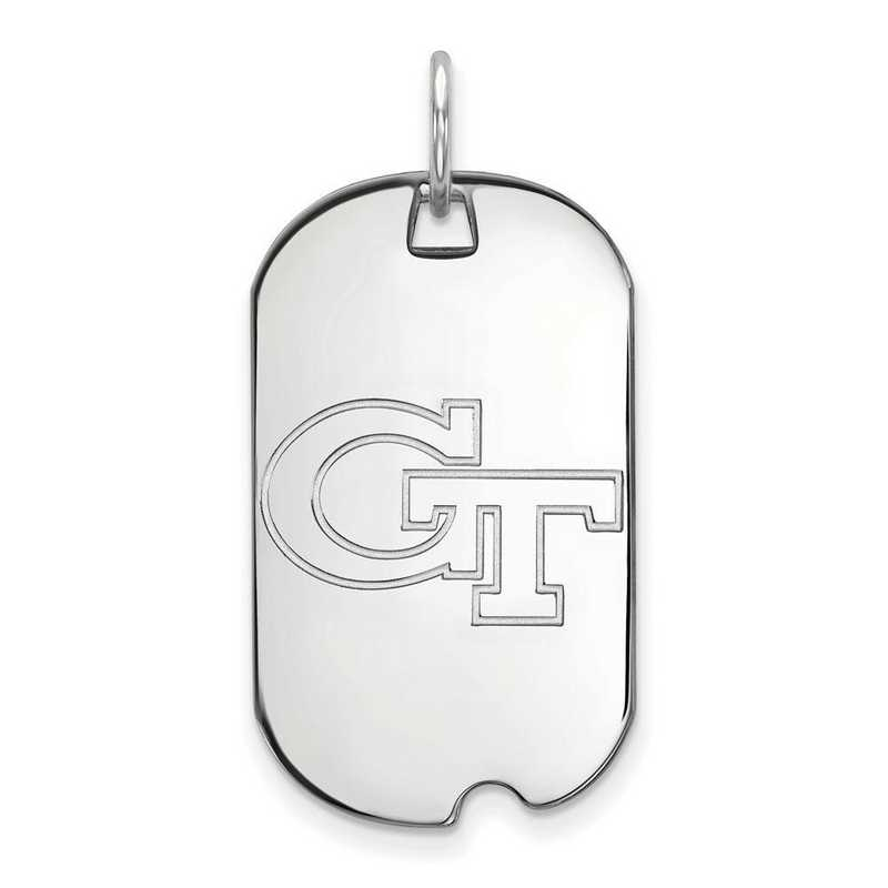 SS021GT: SS LogoArt Georgia Institute of Technology Small Dog Tag