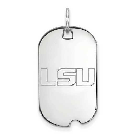 SS021LSU: SS LogoArt Louisiana State University Small Dog Tag