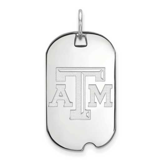 SS021TAM: SS LogoArt Texas A&M University Small Dog Tag