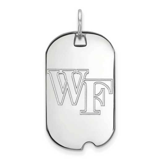 SS021WFU: SS LogoArt Wake Forest University Small Dog Tag