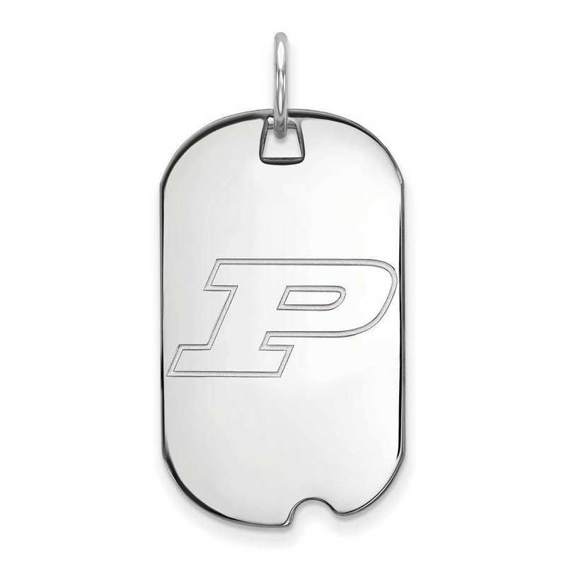 SS022PU: SS LogoArt Purdue Small Dog Tag