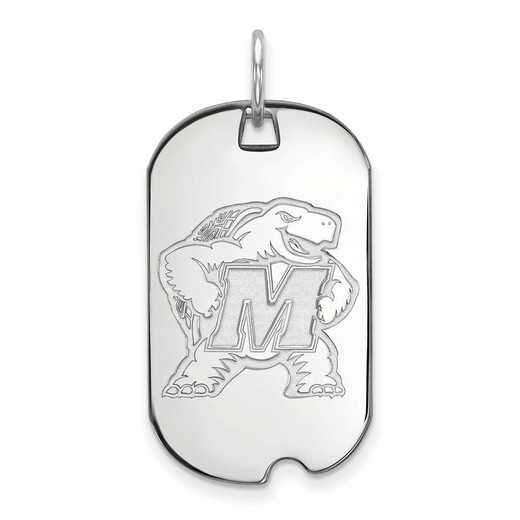 SS022UMD: SS LogoArt Maryland Small Dog Tag