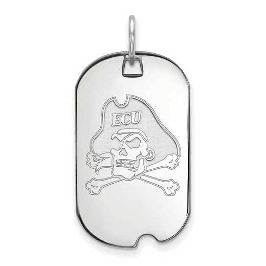 SS023ECU: SS LogoArt East Carolina University Small Dog Tag