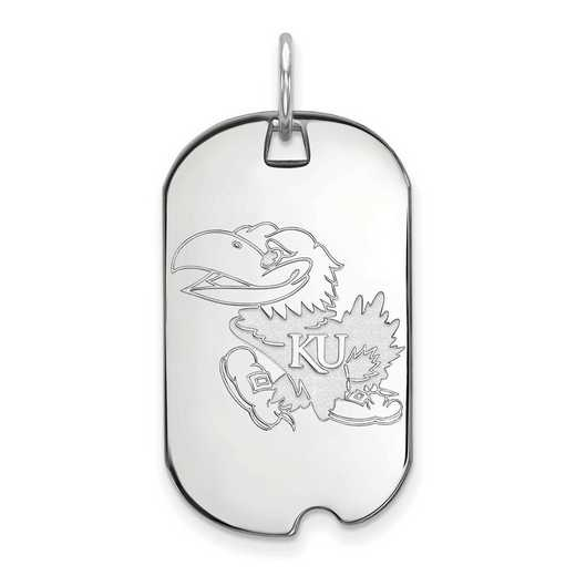 SS023UKS: SS LogoArt University of Kansas Small Dog Tag