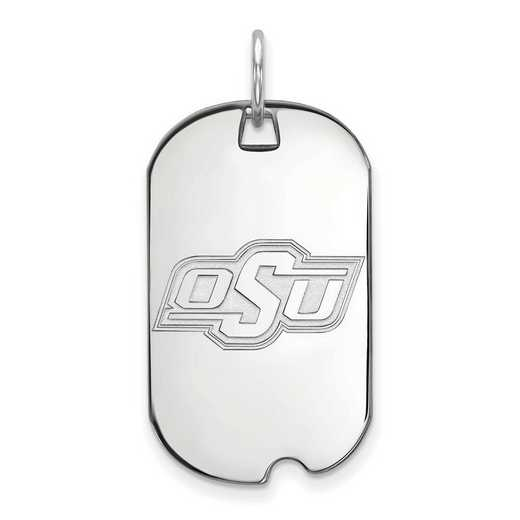 SS026OKS: SS LogoArt Oklahoma State University Small Dog Tag
