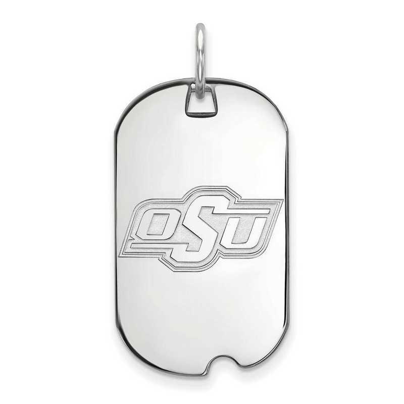 SS026OKS: SS LogoArt Oklahoma State University Small Dog Tag