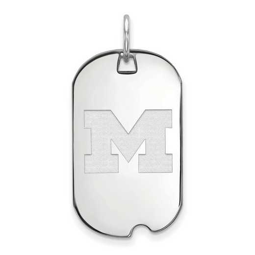SS026UM: SS LogoArt Michigan (Univ Of) Small Dog Tag