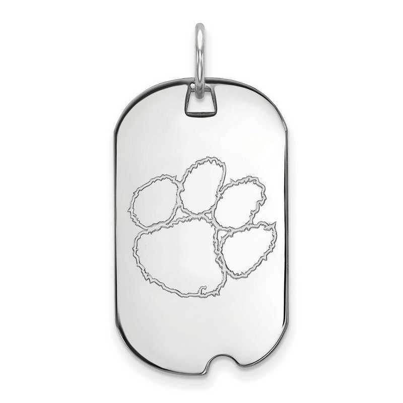 SS027CU: SS LogoArt Clemson University Small Dog Tag