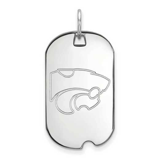 SS027KSU: SS LogoArt Kansas State University Small Dog Tag