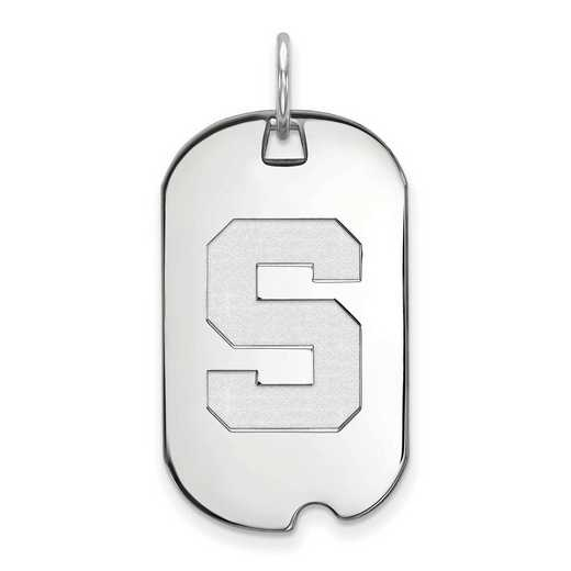 SS027MIS: SS LogoArt Michigan State University Small Dog Tag