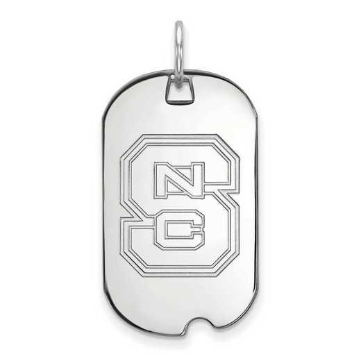SS027NCS: SS LogoArt North Carolina State University Small Dog Tag