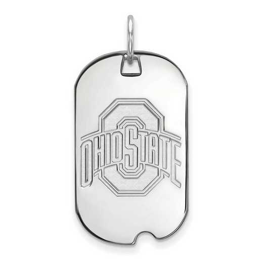 SS027OSU: SS LogoArt Ohio State University Small Dog Tag