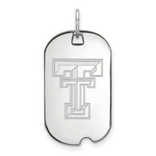 SS027TXT: SS LogoArt Texas Tech University Small Dog Tag
