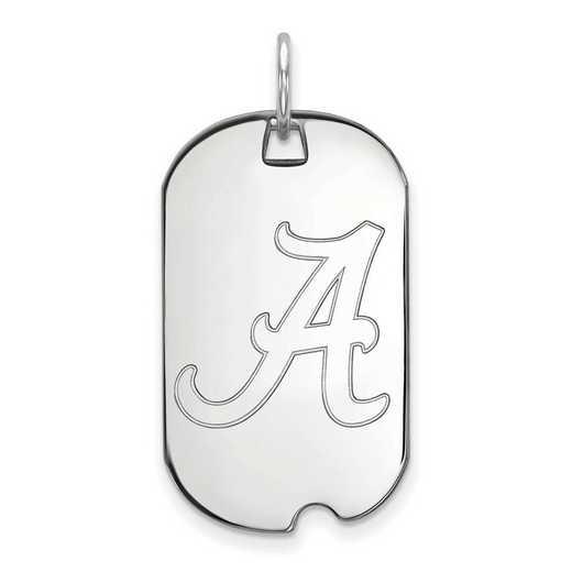 SS027UAL: SS LogoArt University of Alabama Small Dog Tag