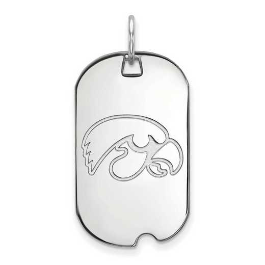 SS027UIA: SS LogoArt University of Iowa Small Dog Tag