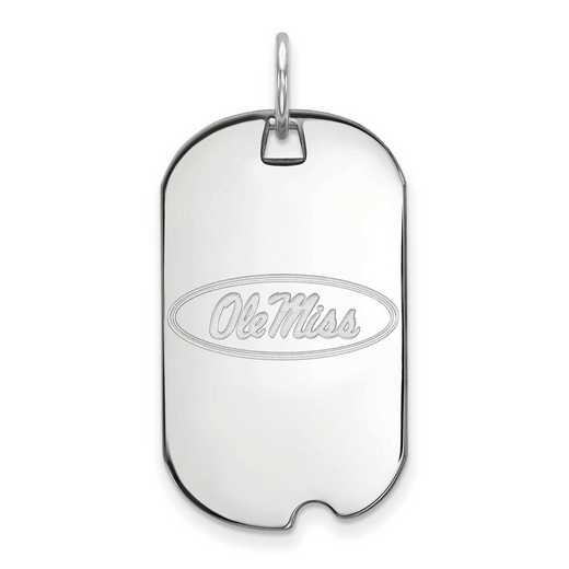 SS027UMS: SS LogoArt University of Mississippi Small Dog Tag