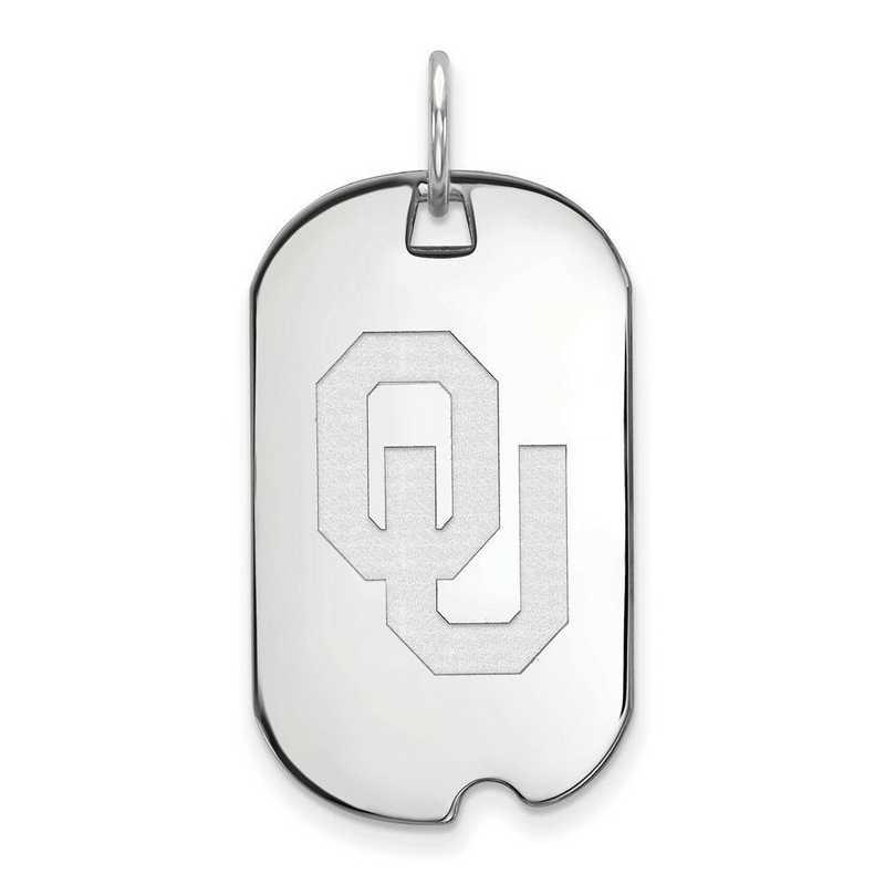 SS028UOK: SS LogoArt University of Oklahoma Small Dog Tag