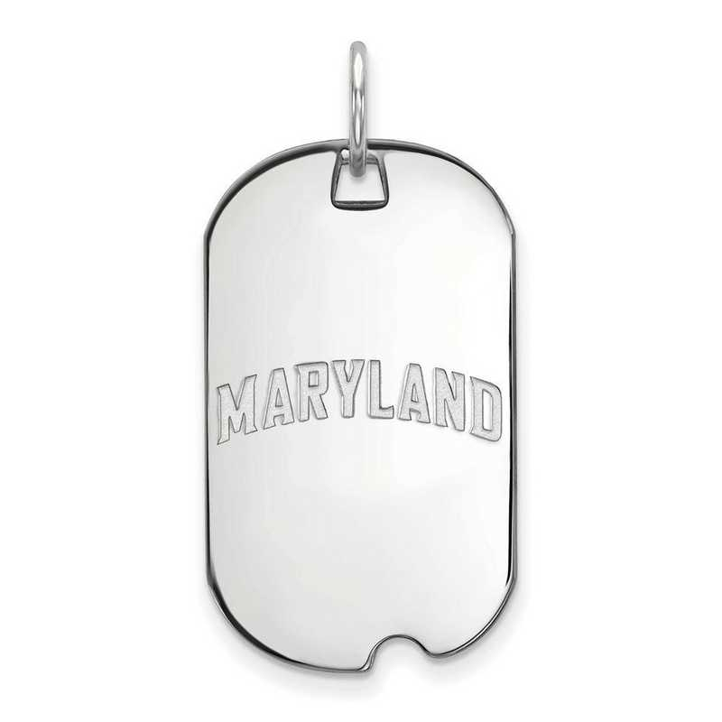 SS039UMD: SS LogoArt Maryland Small Dog Tag