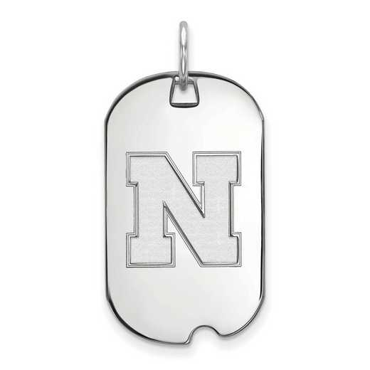 SS054UNE: SS LogoArt University of Nebraska Small Dog Tag