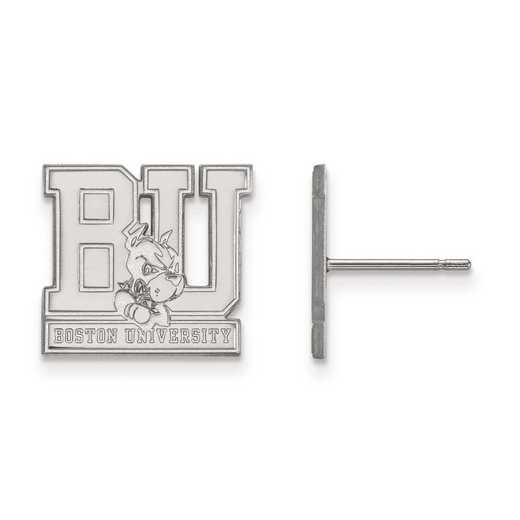1W004BOU: 10kw LogoArt Boston University Small Post Earrings