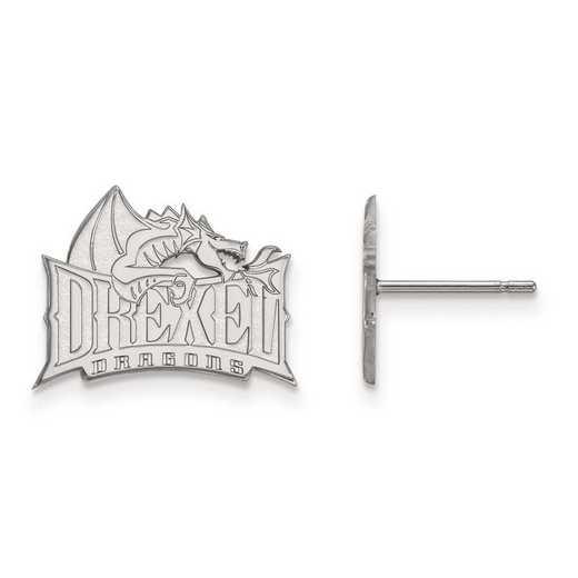 1W004DRE: 10kw LogoArt Drexel University Small Post Earrings