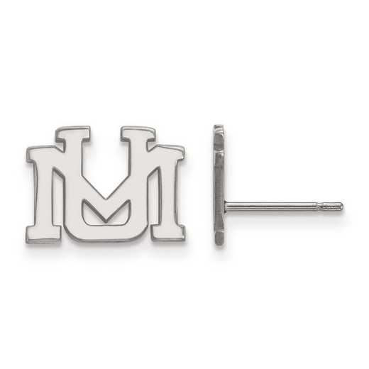 1W007UMT: 10kw LogoArt University of Montana XS Post Earrings