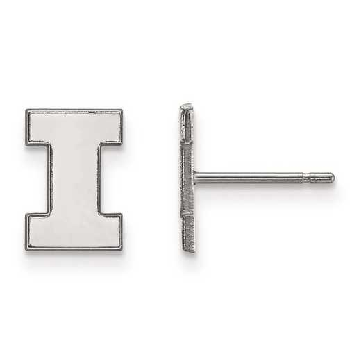 1W008UIL: 10kw LogoArt University of Illinois XS Post Earrings