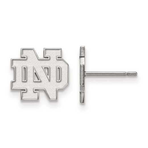 1W008UND: 10kw LogoArt University of Notre Dame XS Post Earring