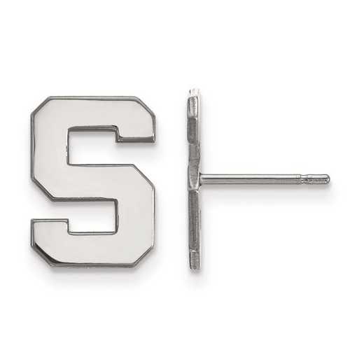 1W009MIS: 10kw LogoArt Michigan State University Small Post Earrings