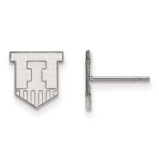 1W049UIL: 10kw LogoArt University of Illinois XS Post Earrings