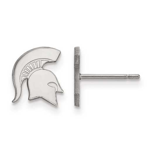 1W050MIS: 10kw LogoArt Michigan State University XS Post Earrings