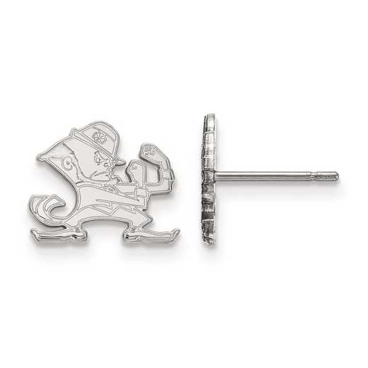 1W050UND: 10kw LogoArt University of Notre Dame XS Post Earring