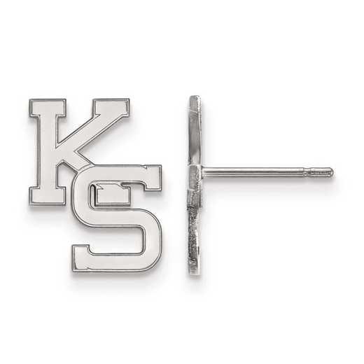 1W051KSU: 10kw LogoArt Kansas State University Small Post Earrings