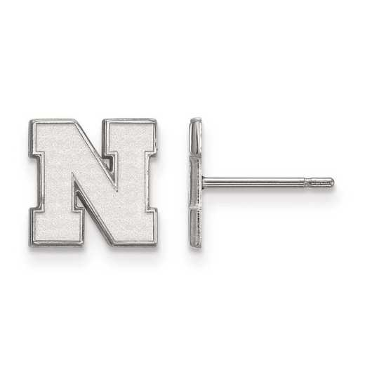 1W070UNE: 10kw LogoArt University of Nebraska XS Earrings Post
