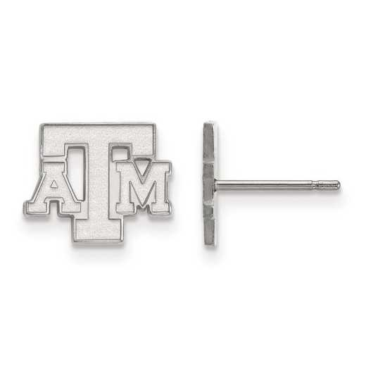 1W074TAM: 10kw LogoArt Texas A&M University XS Post Earrings