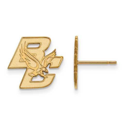 1Y004BOC: 10ky LogoArt Boston College Small Post Earrings