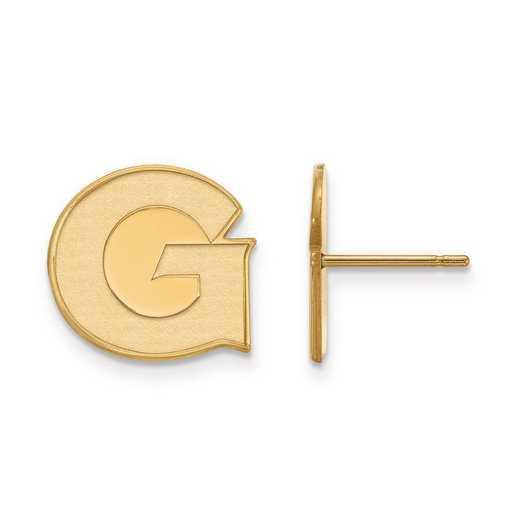1Y004GC: 10ky LogoArt Georgetown University Small Post Earrings