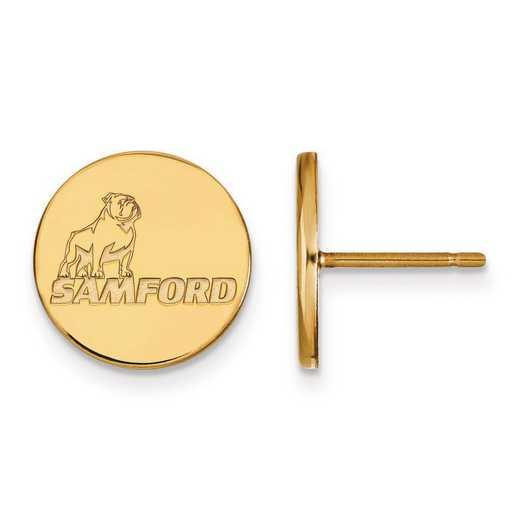 1Y004SMF: 10ky LogoArt Samford University Small Post Earrings