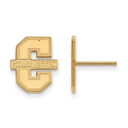 1Y008CHC: 10ky LogoArt College of Charleston Small Post Earrings