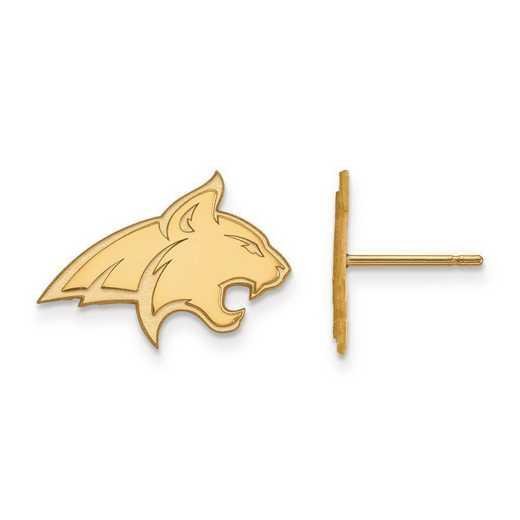 1Y008MTU: 10ky LogoArt Montana State University Small Post Earrings
