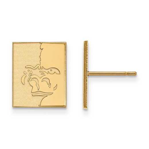 1Y008PSK: 10ky LogoArt Pittsburg State University Small Post Earrings