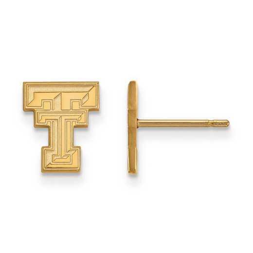 1Y008TXT: 10ky LogoArt Texas Tech University XS Post Earrings