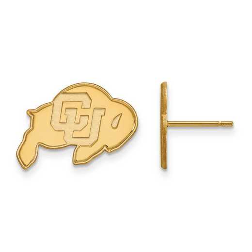 1Y008UCO: 10ky LogoArt University of Colorado Small Post Earrings
