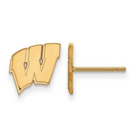 1Y008UWY: 10ky LogoArt The University of Wyoming Small Post Earrings