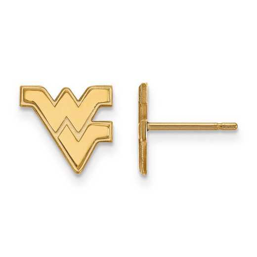 1Y008WVU: 10ky LogoArt West Virginia University XS Post Earrings