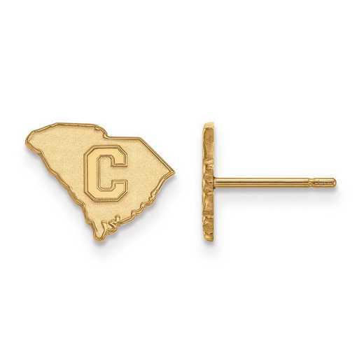 1Y021TCI: 10ky LogoArt The Citadel XS Post Earrings