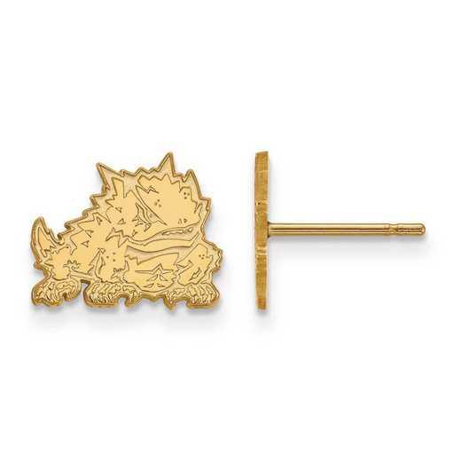 1Y022TCU: 10ky LogoArt Texas Christian University XS Post Earrings