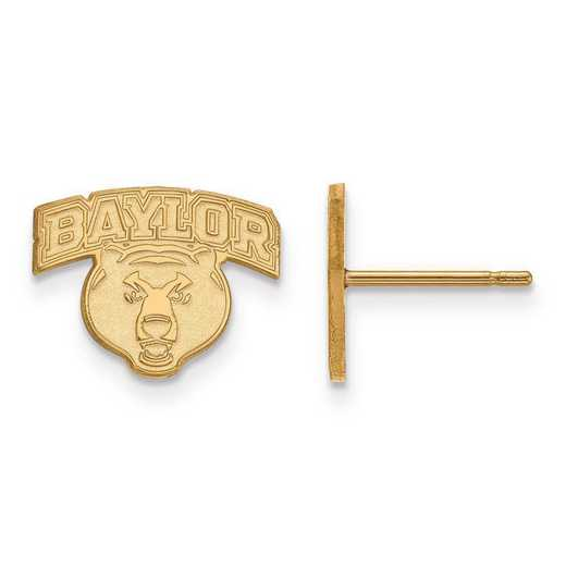 1Y028BU: 10ky LogoArt Baylor University XS Post Earrings